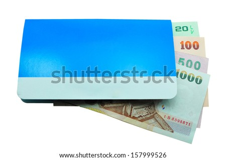 account passbook and Money