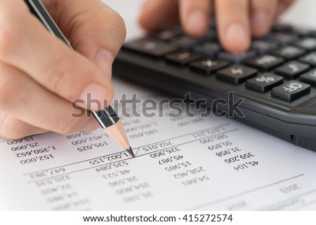 Accountants verify the accuracy of financial statements. Accounting Concept.