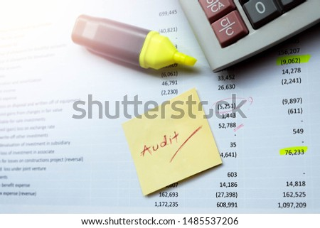 Accounting department and certified public accountant of the company must be examined serious. If find an error, used a color pen marker for edit before to public announcement of financial statement  #1485537206
