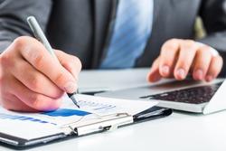 Accounting, market, laptop.