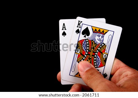 king and aces cards poker