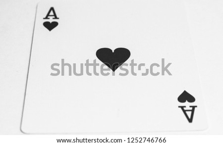Ace of hearts playing card deck #1252746766