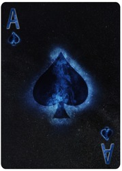 Ace of  Spades playing card Abstract Background