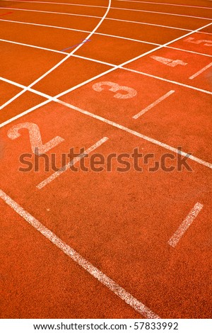 ace track lanes curve detail for background sports concepts