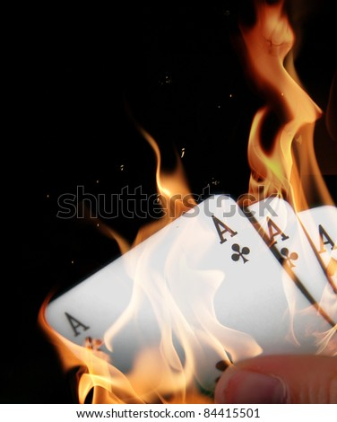 Aces in fire