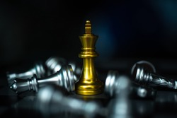 Achieve Business Excellence as concept. The Conceptual Business Integrity. Celebrate Winning Teamwork Corporate People . Strengthening Cooperation of the Organization. Chess Business Achieve Concept.