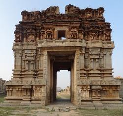 AchyutaRaya Temple at Hampi, a city located in Karnataka, South West India