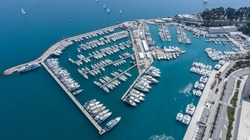 ACI Marina Split, aerial photography taken during the daylight.