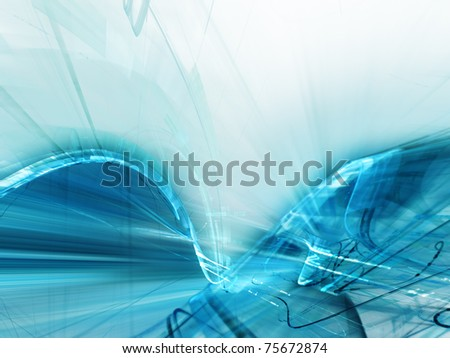 Acid blue abstract background element