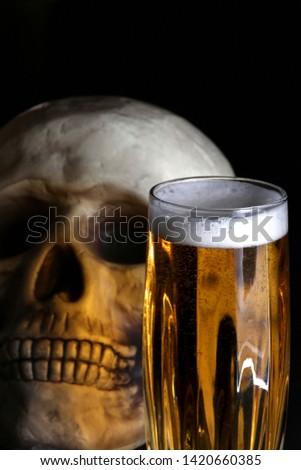acohol, alco, alcoholic, alcoholism, beer, addict, addiction, unhealthy, health, skull, skeleton, death, medical, medicine, doping, horror, danger, bad, hell, dead, fear, drug addition,  #1420660385