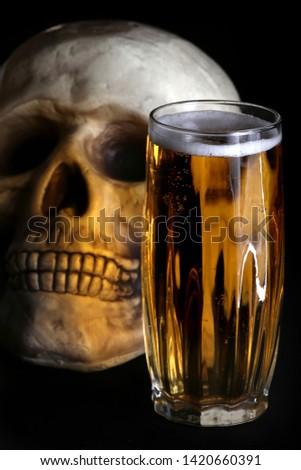 acohol, alco, alcoholic, alcoholism, beer, addict, addiction, unhealthy, health, skull, skeleton, death, medical, medicine, doping, horror, danger, bad, hell, dead, fear, drug addition,  #1420660391