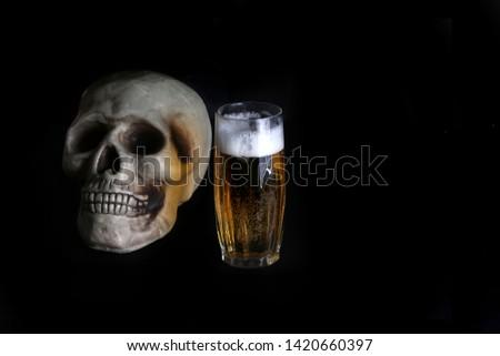 acohol, alco, alcoholic, alcoholism, beer, addict, addiction, unhealthy, health, skull, skeleton, death, medical, medicine, doping, horror, danger, bad, hell, dead, fear, drug addition,  #1420660397