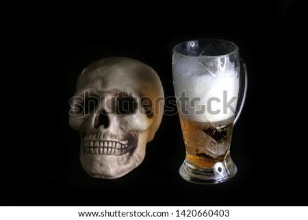 acohol, alco, alcoholic, alcoholism, beer, addict, addiction, unhealthy, health, skull, skeleton, death, medical, medicine, doping, horror, danger, bad, hell, dead, fear, drug addition,  #1420660403