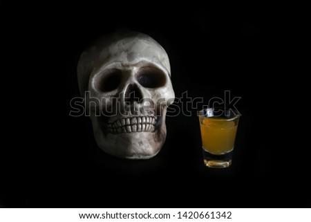 acohol, alco, alcoholic, alcoholism, shot, coctail, addict, addiction, unhealthy, health, skull, skeleton, death, medical, medicine, doping, horror, danger, bad, hell, dead, fear, drug addition,  #1420661342