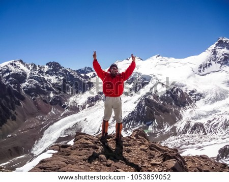 Aconcagua in Argentina, South America. The highest mountain in America.