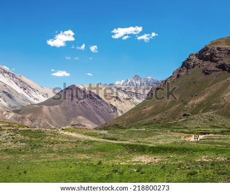 Aconcagua (6962 m) is the highest mountain in the Americas - Andes, Argentina, Latin America