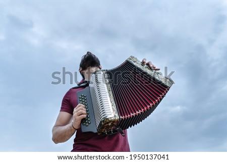 acordeon vallenato legend festival colombia Foto stock ©