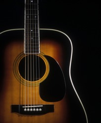 Acoustic flattop guitar