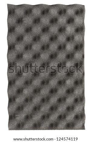 Acoustic foam panel isolated on white background