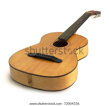 acoustic guitar isolated on the white background #72004336