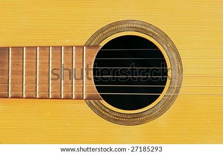 acoustic guitar - string - resonant