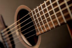 Acoustic guitar. Strings. background