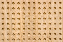 Acoustic perforated panels close-up as background
