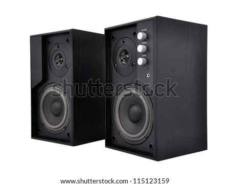 Acoustic system on a white background