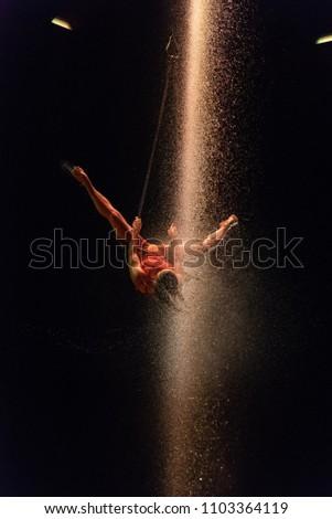 Acrobat Dancers of Luzia by Cirque du Soleil 10 Photo stock ©