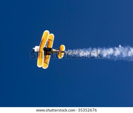 Acrobatic Plane in Flight