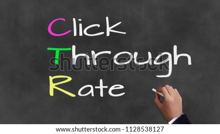 Acronym and coprate sayings on chalkboard - 'C.T.R' - Click Through Rate Stock fotó ©