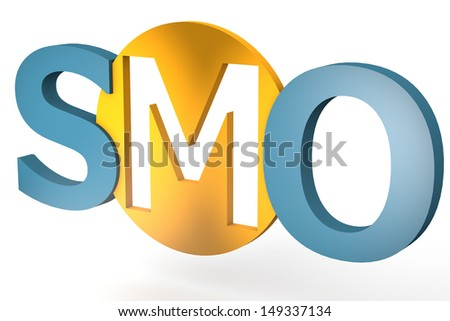 acronym concept: SMO for Social Media Optimization isolated on white background