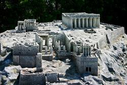 Acropolis miniature in Mini Park.