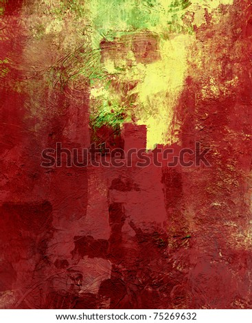 acrylic and oil paints background - stock photo