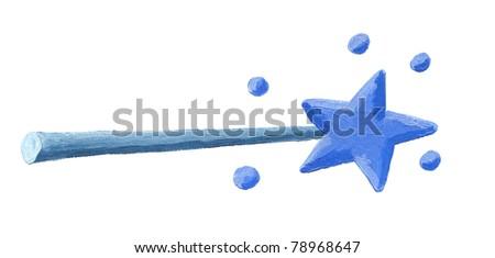 Acrylic illustration of Magic wand