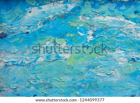 Acrylic, paint, abstract. Closeup of the painting. Colorful abstract painting background. Highly-textured oil paint. High quality details. Impressionism modern texture. Paint fluid.