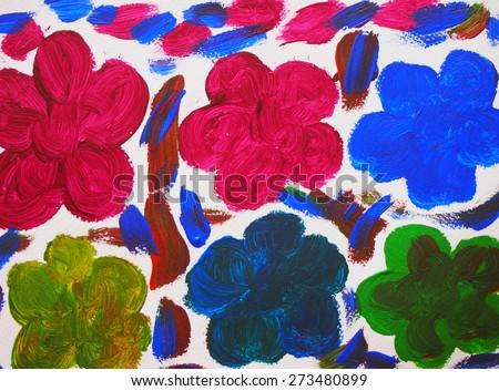 acrylic paint arts flowers backgrounds texture colorful