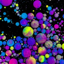 Acrylic paint ink color balls