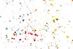 Acrylic Paint Splatters and spots for Background