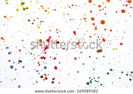 Photo of  Acrylic Paint Splatters and spots for Background
