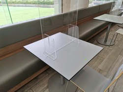 Acrylic partition for Social Distancing in food cort