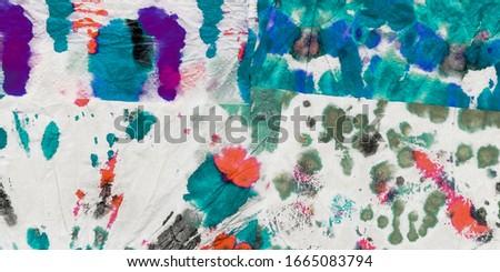 Acrylic Wash Background. Multicolor Dirty Watercolor Print. Vivid Grunge Oil Acrylic. Bright Splash Tie Print. White Minimalistic Invitation Background.