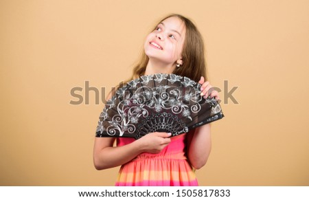 Acting school. Dances with fan. Girl fanning herself with fan. Air circulation. Art and culture. Handheld fan create airflow. Airflow from handfans increases evaporation. Cooling effect. Folding fans. #1505817833