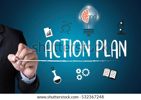 ACTION PLAN ,  Action Plan Strategy Vision Planning , Creative Development Process Action Plan , Action Plan Process Strategy Vision , businessman  #532367248