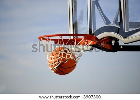 basketball hoop. asketball hoop and net