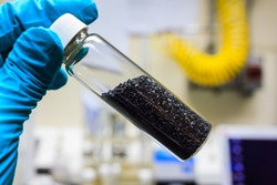 activated carbon or granular in clear bottle is used in air purification, decaffeinate, gold purification, metal extraction, water purification, medicine, sewage treatment, air filters in gas masks
