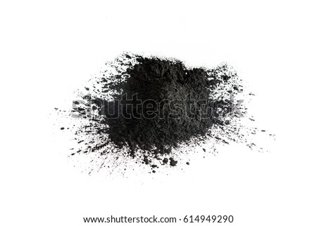 Activated charcoal powder shot with macro lens #614949290