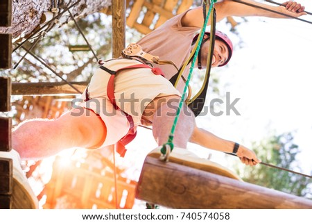active guy doing activity in an ...