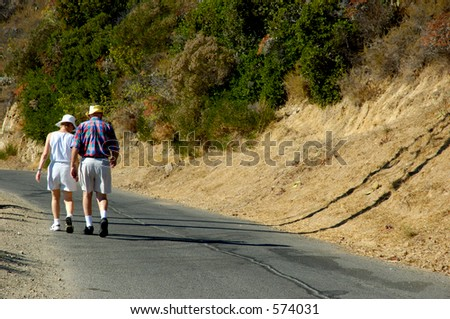 Active older couple