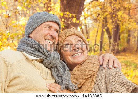 active senior couple enjoying freetime park